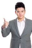 Businessman with thumb up Stock Image