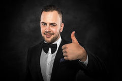 Businessman with Thumb Up. stock photography