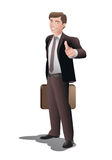 Businessman in thumb up pose Royalty Free Stock Photo