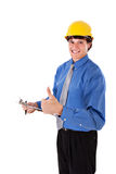 Businessman with Thumb Up Sign Stock Photo