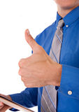 Businessman with Thumb Up Sign Stock Photography