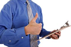 Businessman with Thumb Up Sign Stock Image