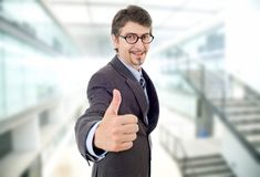Businessman thumb up Stock Photo