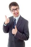 Businessman thumb up Stock Photography