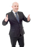 Businessman thumb up Royalty Free Stock Photo