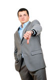 A businessman with thumbs down Stock Image