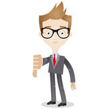 Businessman thumbs down Royalty Free Stock Image