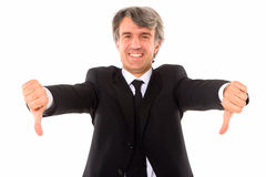 Businessman thumbs down Stock Photography