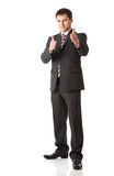Businessman with thumbs-up Stock Image