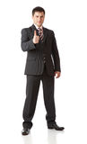 Businessman with thumbs-up Stock Images