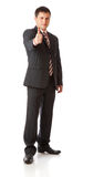Businessman with thumbs-up Royalty Free Stock Images