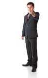 Businessman with thumbs-up Stock Photo