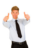 Businessman with thumbs up Royalty Free Stock Photo