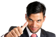 Businessman with thumbs up Stock Photography