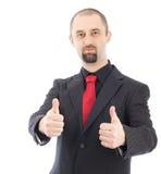 Businessman thumbs up Royalty Free Stock Photos