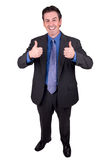 Businessman with thumbs up Royalty Free Stock Images