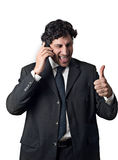 Businessman thumbs up Royalty Free Stock Image