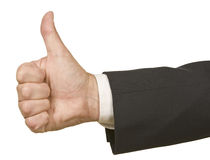 Businessman Thumbs Up Stock Photo