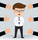 Businessman Thumbs up hands Stock Images