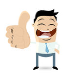 Businessman with thumbs up Royalty Free Stock Photos
