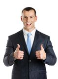 Businessman thumbs up Royalty Free Stock Photos