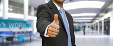 Businessman Thumbs up Royalty Free Illustration