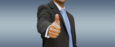 Businessman Thumbs up Stock Photo