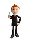 Businessman with thumbs up pose. 3d illustration of businessman with thumbs up pose Royalty Free Stock Photography
