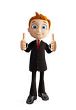 Businessman with thumbs up pose. 3d illustration of businessman with thumbs up pose Stock Photo