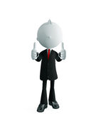 Businessman with thumbs up pose. 3d illustration of white businessman with thumbs up pose Royalty Free Stock Images