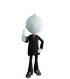 Businessman with thumbs up pose. 3d illustration of white businessman with thumbs up pose Royalty Free Stock Image