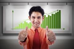 Businessman gain profit Royalty Free Stock Images