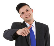 Businessman with a thumbs up sign Royalty Free Stock Photo