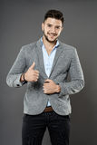 Businessman with thumbs up Stock Image
