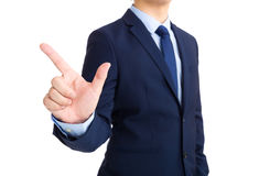 Businessman with tick sign Royalty Free Stock Photography