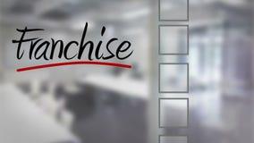 Businessman ticking franchise checklist stock footage
