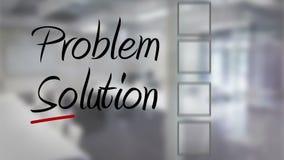 Businessman ticking problem solving checklist stock footage