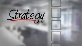 Businessman ticking strategy checklist. Digital animation of Businessman ticking strategy checklist stock illustration