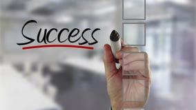 Businessman ticking success checklist stock video footage