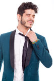 Businessman with tie loosened and tired. Young businessman with tie loosened and tired Royalty Free Stock Photography