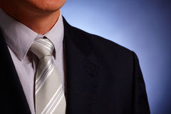 Businessman tie and suit close-up Stock Photography