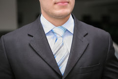Businessman tie and suite. Close-up Stock Photography