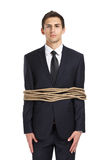 Businessman tied with the line Stock Photos