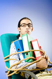 Businessman tied with rope Royalty Free Stock Photography