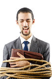 Businessman tied up Royalty Free Stock Photo