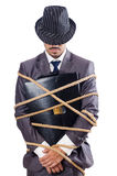 Businessman tied up Stock Photos