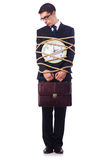 Businessman tied up Royalty Free Stock Images