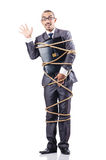 Businessman tied up Royalty Free Stock Image