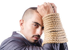 Businessman tied up Stock Photos