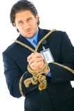 businessman tied up Στοκ Εικόνες